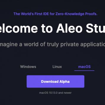 Aleo Studio: un IDE per Zero-Knowledge Proofs Applications